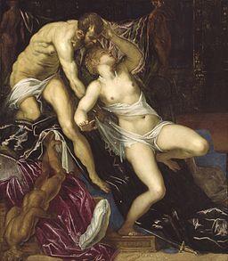 Jacopo Tintoretto, Vergewaltigung der
